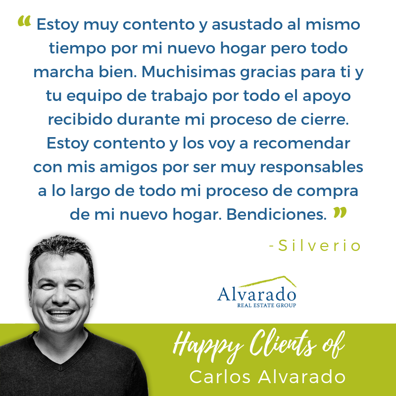 Happy Clients of Alvarado Real Estate Group