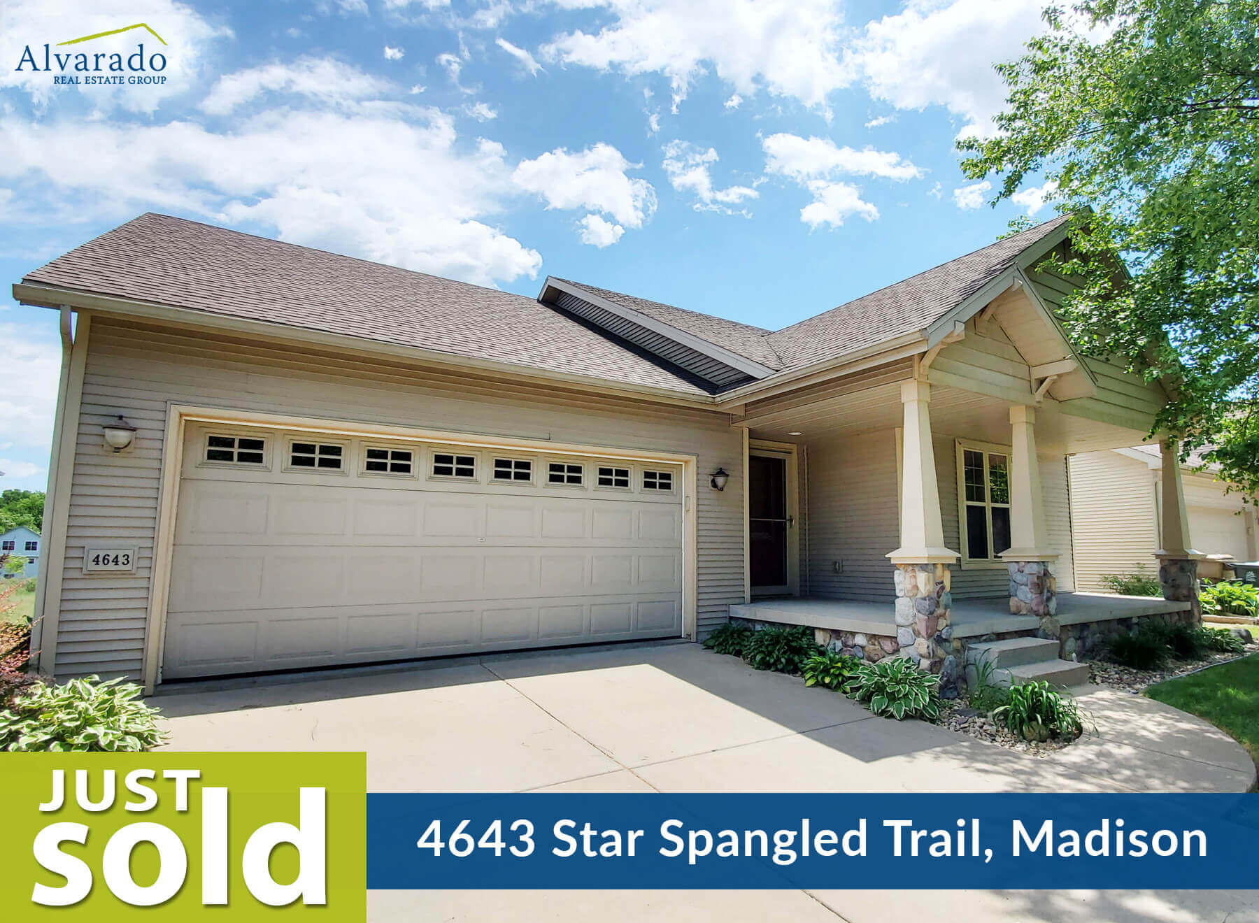 4643 Star Spangled Trail, Madison – Sold by Alvarado Real Estate Group