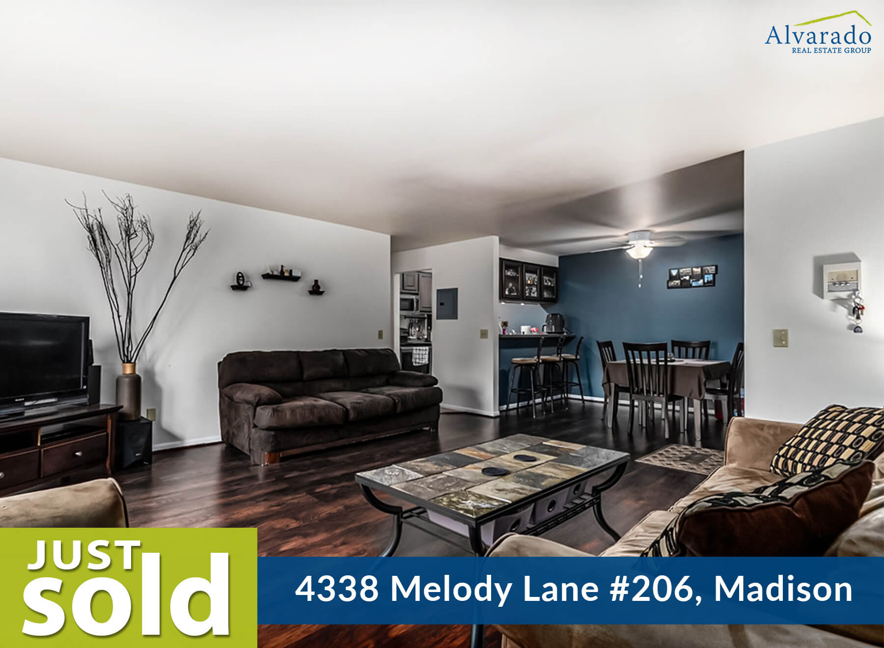 4338 Melody Lane #206, Madison – Sold by Alvarado Real Estate Group