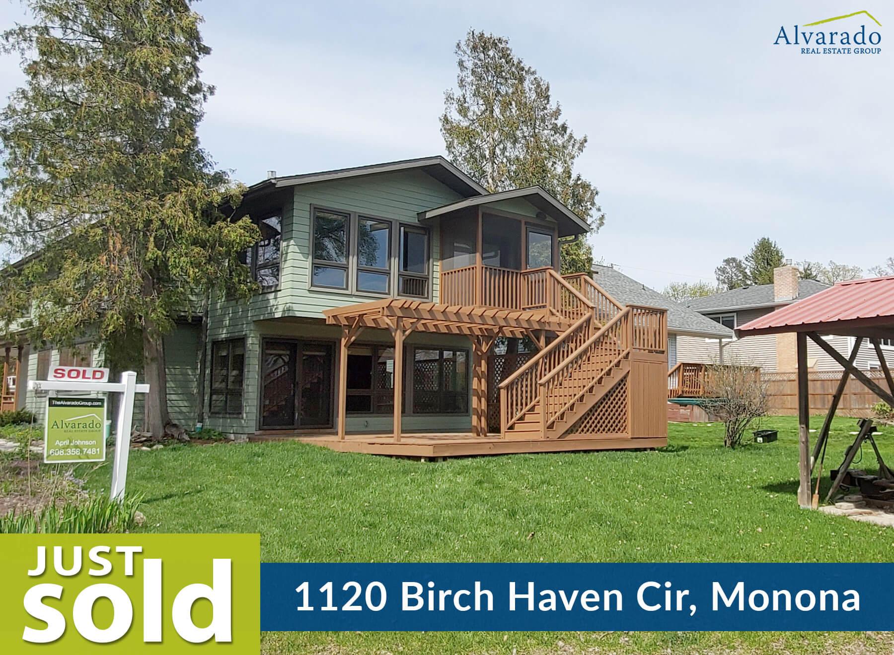 1120 Birch Haven Circle, Monona – Sold by Alvarado Real Estate Group