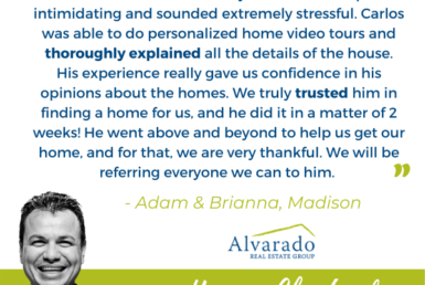 agent profile image and testimonial text