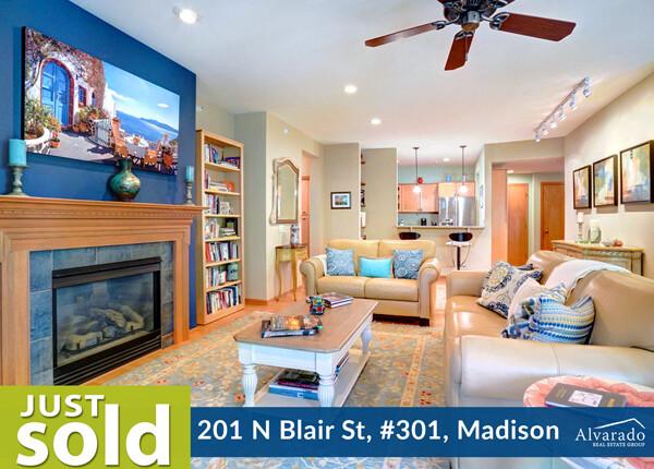201 N Blair St., #301, Madison – Sold by Alvarado Real Estate Group
