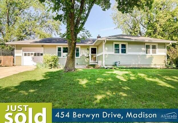 454 Berwyn Drive, Madison – Sold by Alvarado Real Estate Group